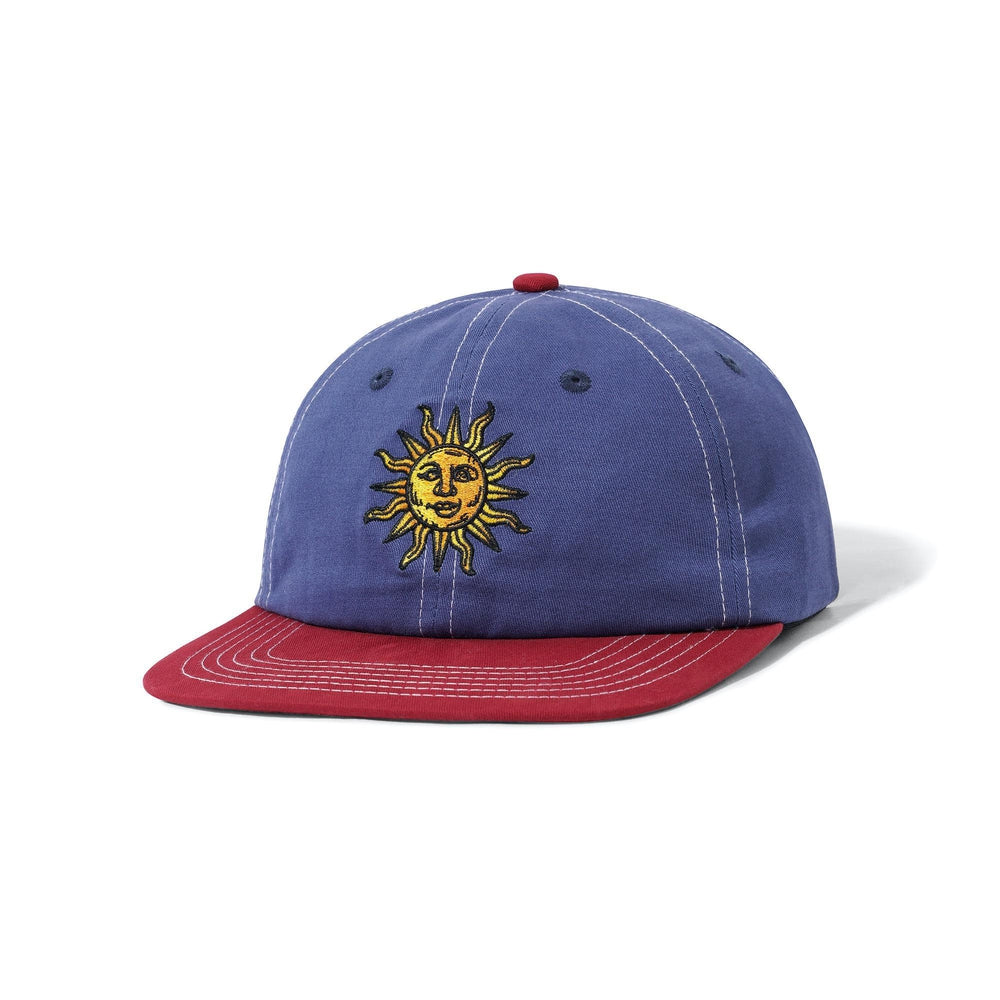 Butter Goods Sun 6 Panel Cap Navy / Burgundy OSFA