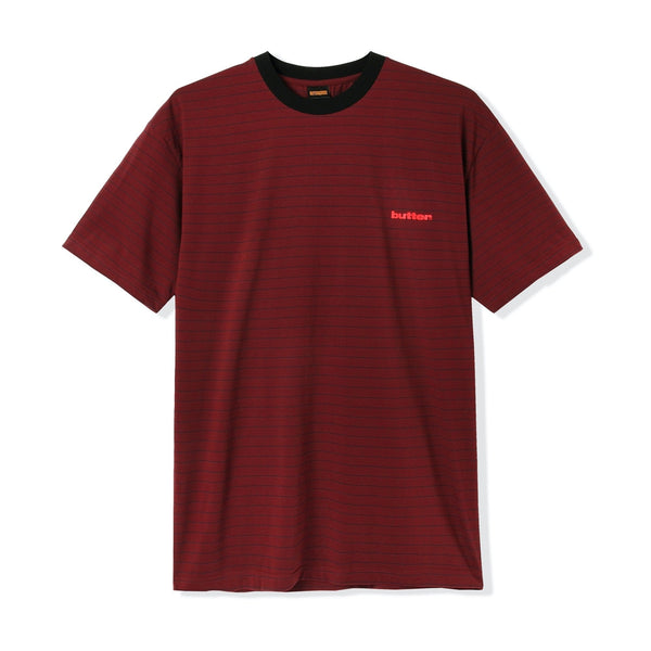 Butter Goods Tide Stripe Tee Red