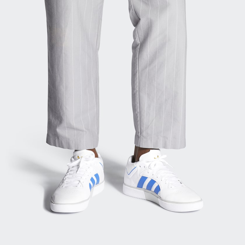 Adidas Tyshawn Cloud White / Blue / Gold Metallic - 1991 Skateshop Online Store