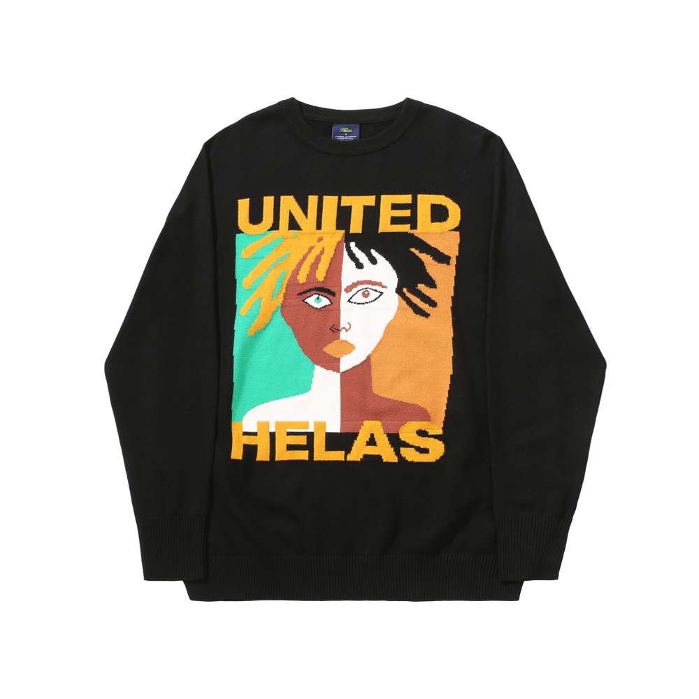 Helas United Knit Sweater Black