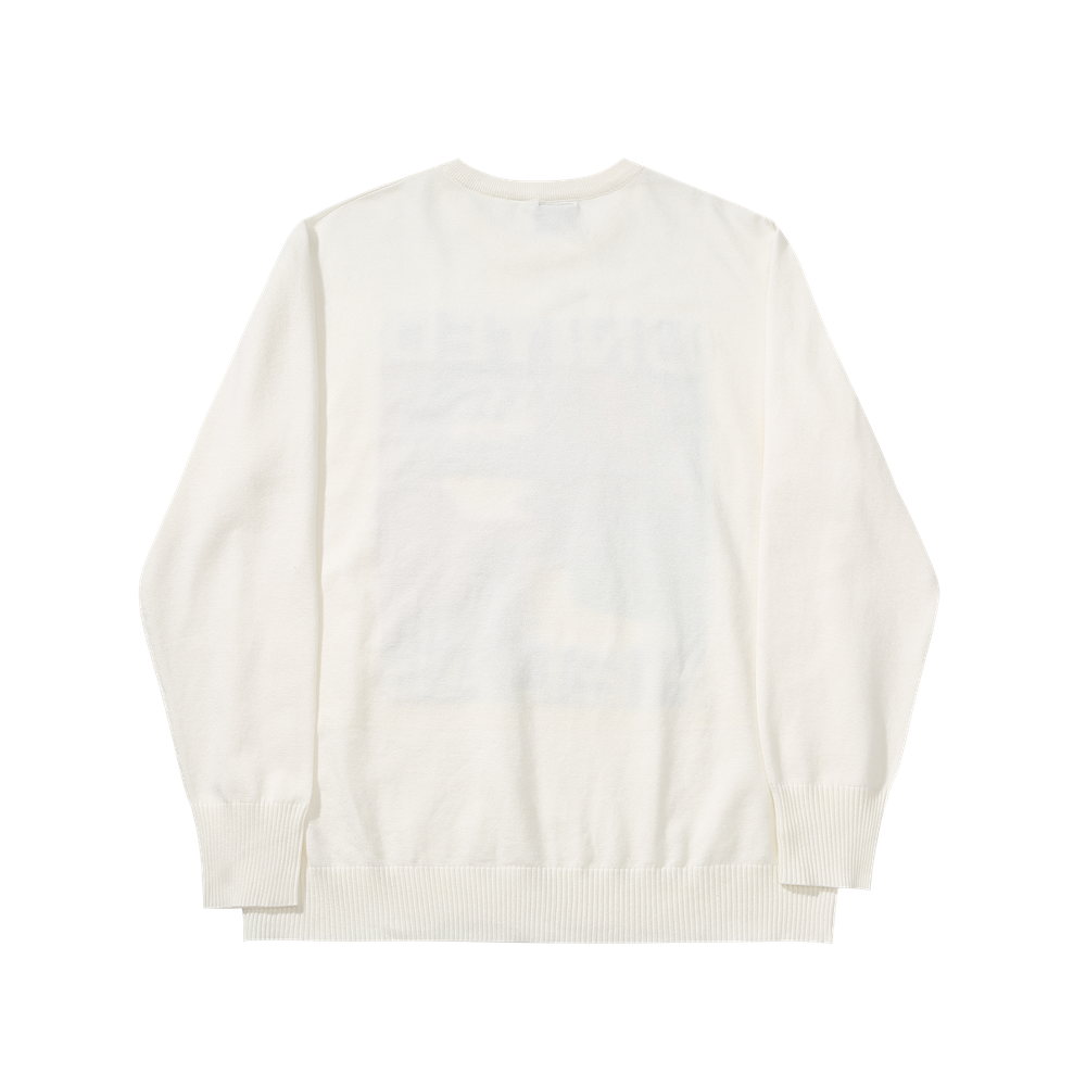 Helas United Knit Sweater Off White