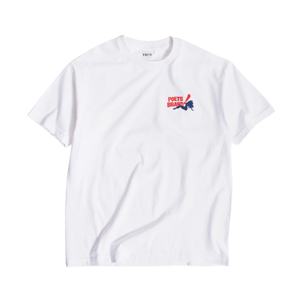 Poets Bing SS Tee White | 1991 Skateshop | Fremantle WA
