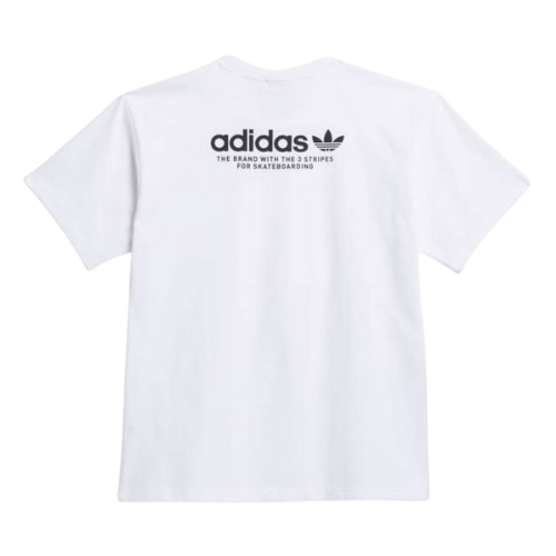 Adidas 4.0 Logo Tee White/Black | 1991 Skateshop | Fremantle WA