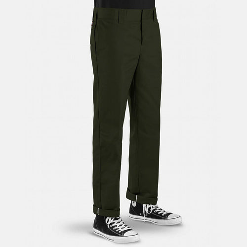 Dickies 873 Slim Straight Work Pant - Olive Green - 1991 Skateshop Online Store