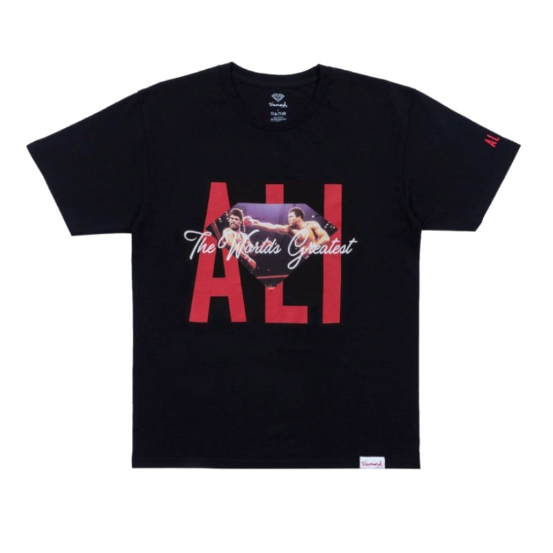 Diamond Supply Co Muhammad Ali Ali Sign Tee Black - 1991 Skateshop Online Store