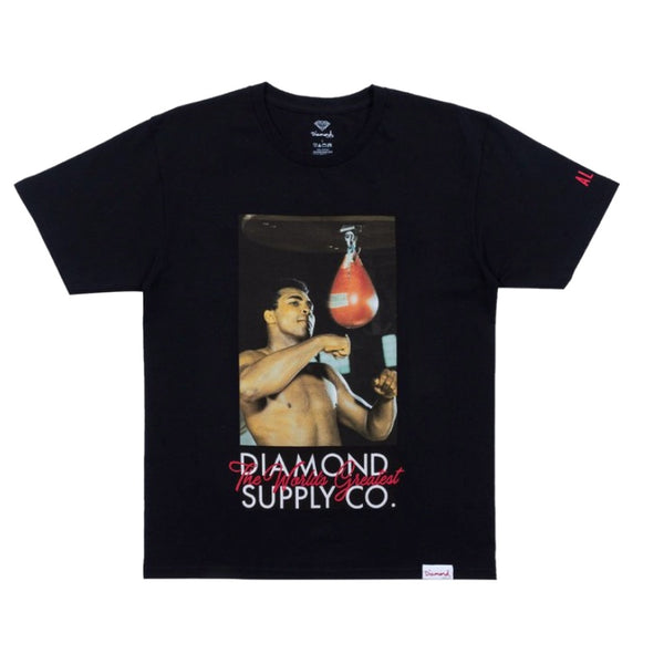 Diamond Supply Co Muhammad Ali Worlds Greatest Tee Black