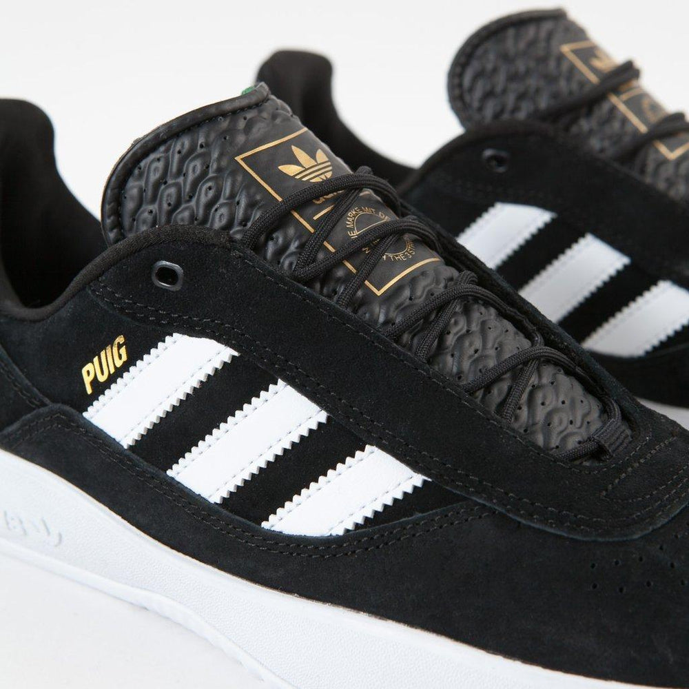 Adidas Puig Core Black/White/Green | 1991 Skateshop | Fremantle WA