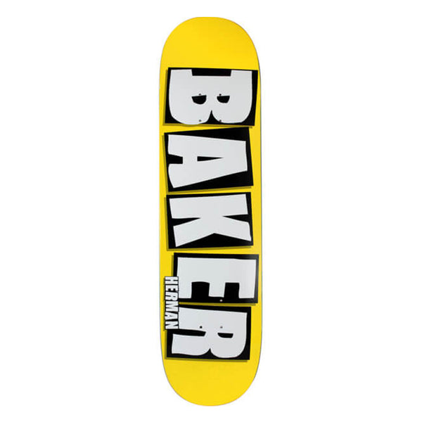 Baker Deck Herman Brand Name Logo Neon Yellow 8.38