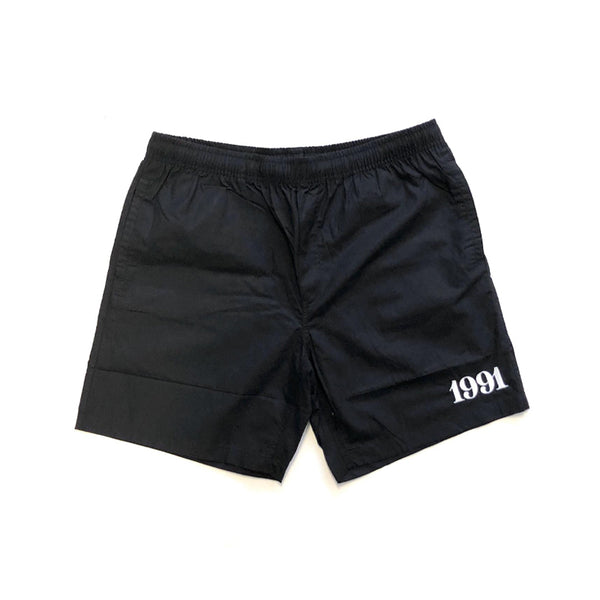 1991 Beach Short S19  Black/White