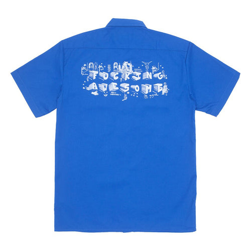 FA Block Letters Work Shirt Royal - 1991 Skateshop Online Store