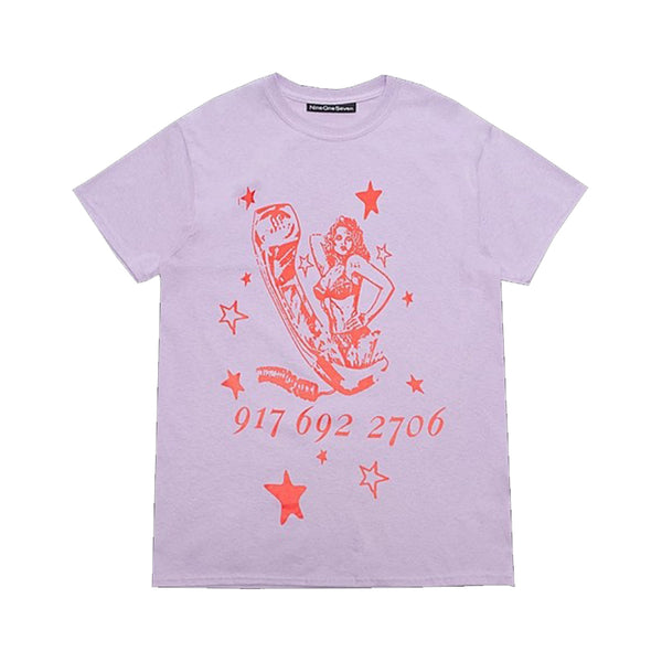 Call Me 917 Ecstasy Tee Lavender