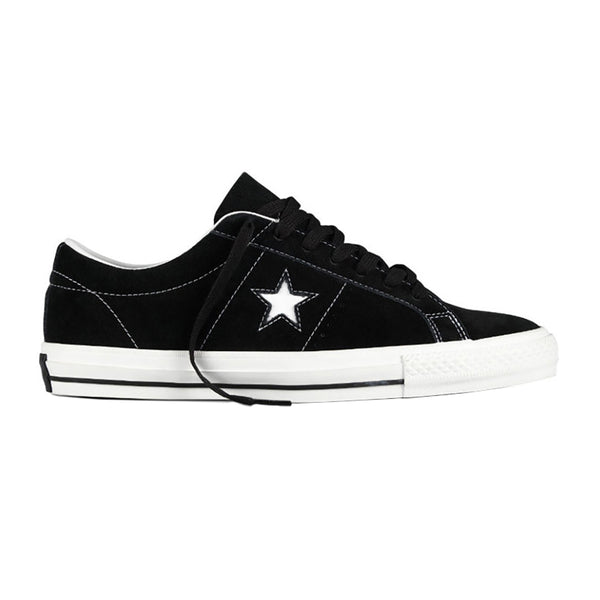 Converse One Star Pro Low Suede Black White