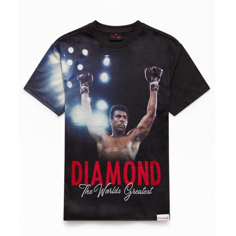 Diamond Supply Co Muhammad Ali The Champ Tee Black - 1991 Skateshop Online Store