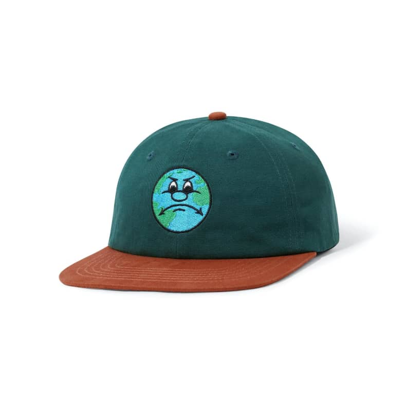 Butter Goods World 6 Panel Cap Forest / Burnt Orange OSFA