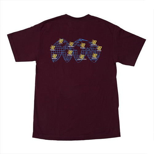 Bronze International Tee - Burgundy