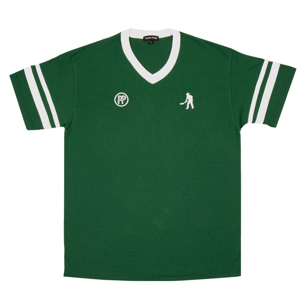 Passport Workers Stripes Jersey Dark Green/ White