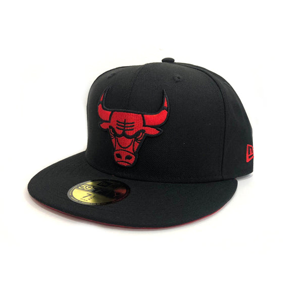 New Era Chicago Bulls 59Fifty Fitted Black/Scarlet