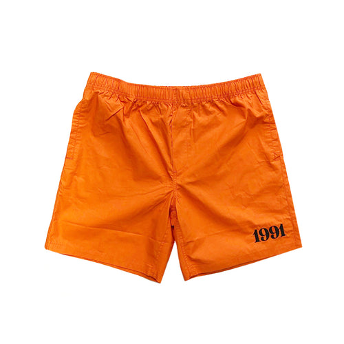 1991 Beach Short S19 Orange/Black - 1991 Skateshop Online Store