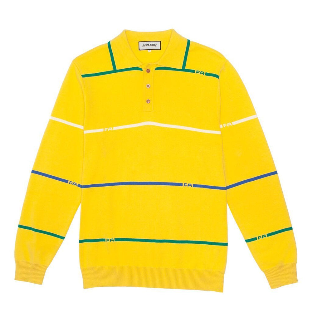 FA Stripes Knit Rugby Yellow - 1991 Skateshop Online Store