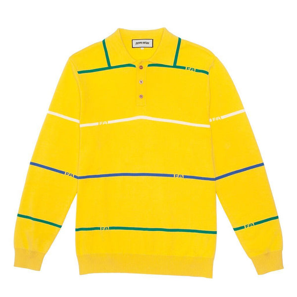 FA Stripes Knit Rugby Yellow