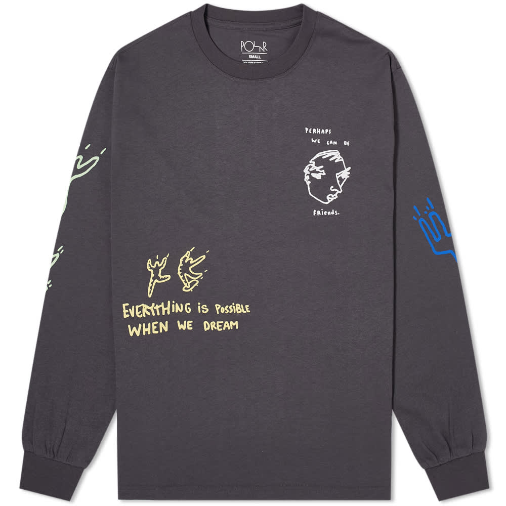 Polar Skate Co Notebook Longsleeve Graphite
