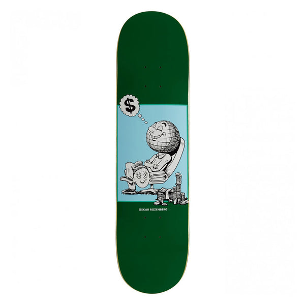 Polar Skate Co Oskar Rozenberg Profit Green Deck