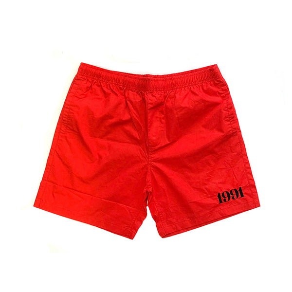 1991 Beach Short S19 Red/White