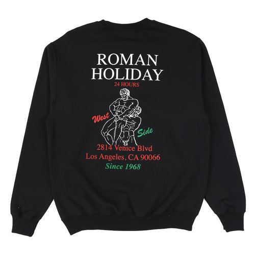 Boys of Summer Roman Holiday Crewneck - Black - 1991 Skateshop Online Store
