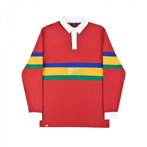 Helas Rude L/S Polo Red - 1991 Skateshop Online Store