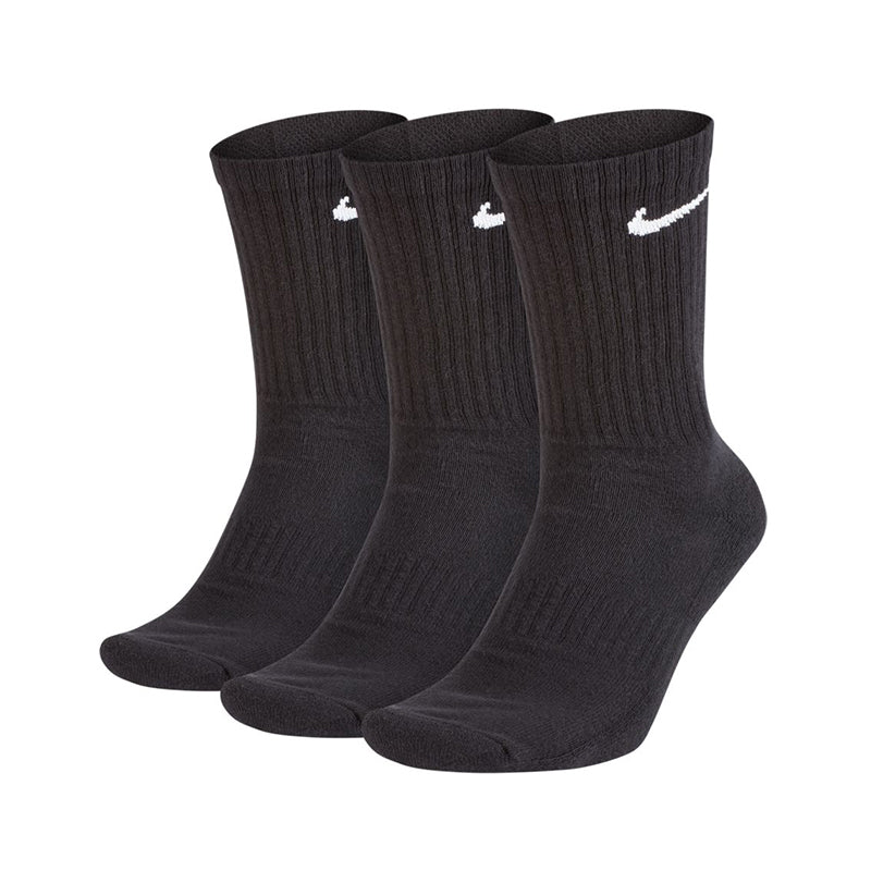 Nike SB Everyday Cushioned Training Crew Socks 3 Pairs Black/White