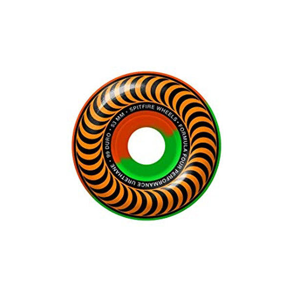 Spitfire Wheel F4 99D Classic Swirl Orange/Green