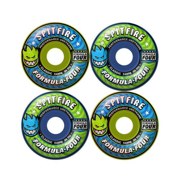 Spitfire Wheel F4 99D Classic Mash Blue/Green