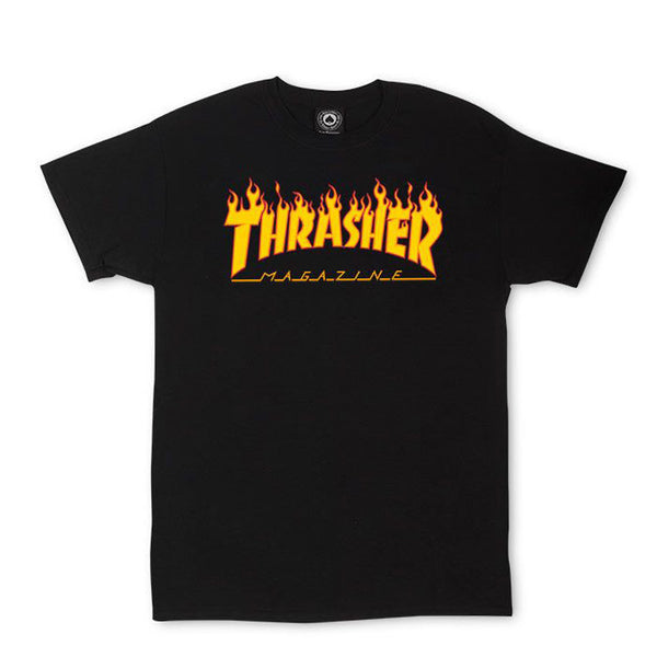 Thrasher Flame Tee Black