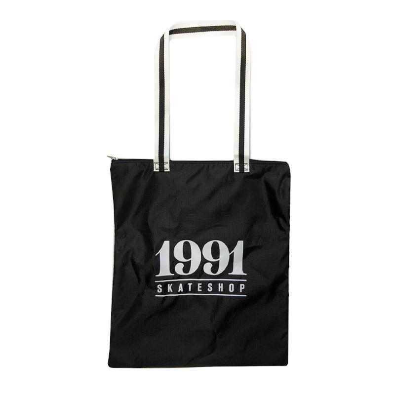 1991 UltraLite Ripstop Side Bag Black/White - 1991 Skateshop Online Store