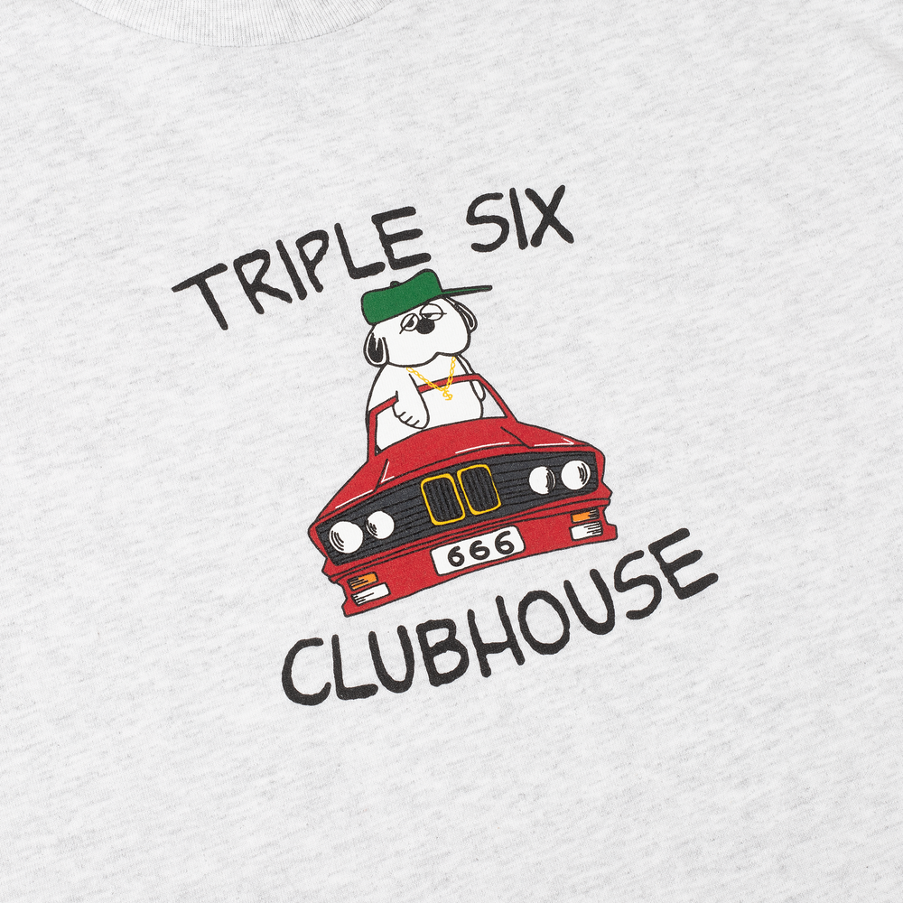 Triple Six Clubhouse Convertible Tee Ash