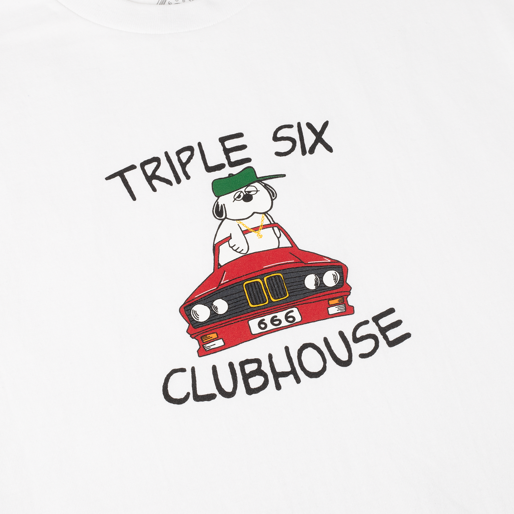 Triple Six Clubhouse Convertible Tee White