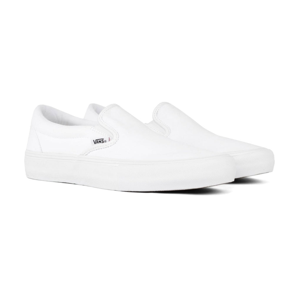 Vans Slip On Pro White/White Canvas | 1991 Skateshop | Fremantle WA