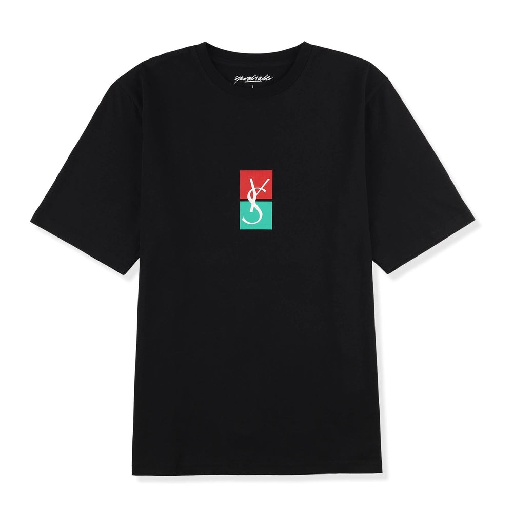 Yardsale Split Tee Black