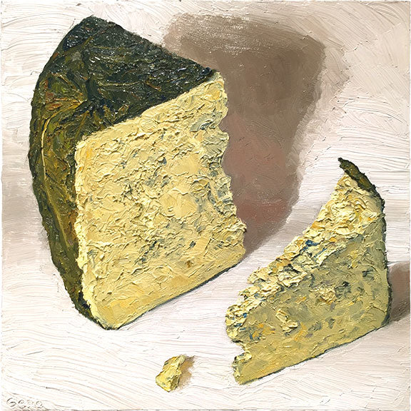 Cheese Portrait Shakerag Blue | Revittle