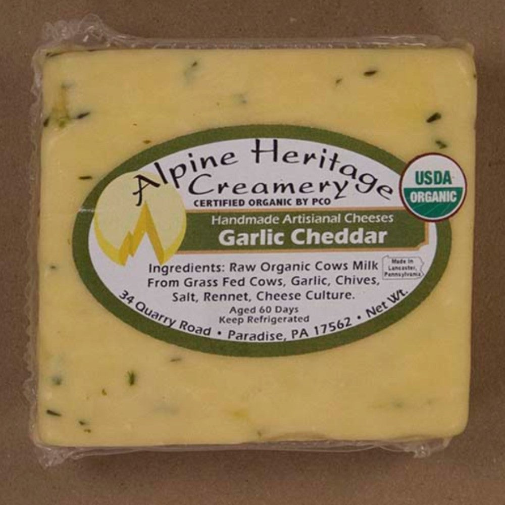 Alpine Heritage Creamery Garlic Cheddar | Revittle
