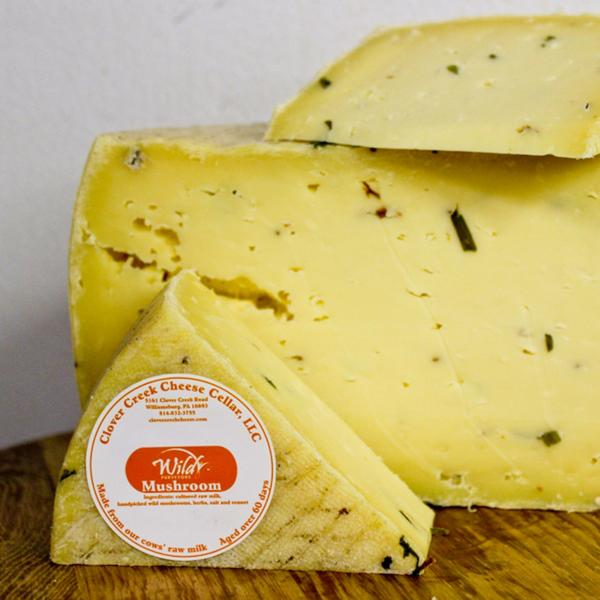 Clover Creek Cheese Cellar Wild Mushroom Cheddar | Revittle