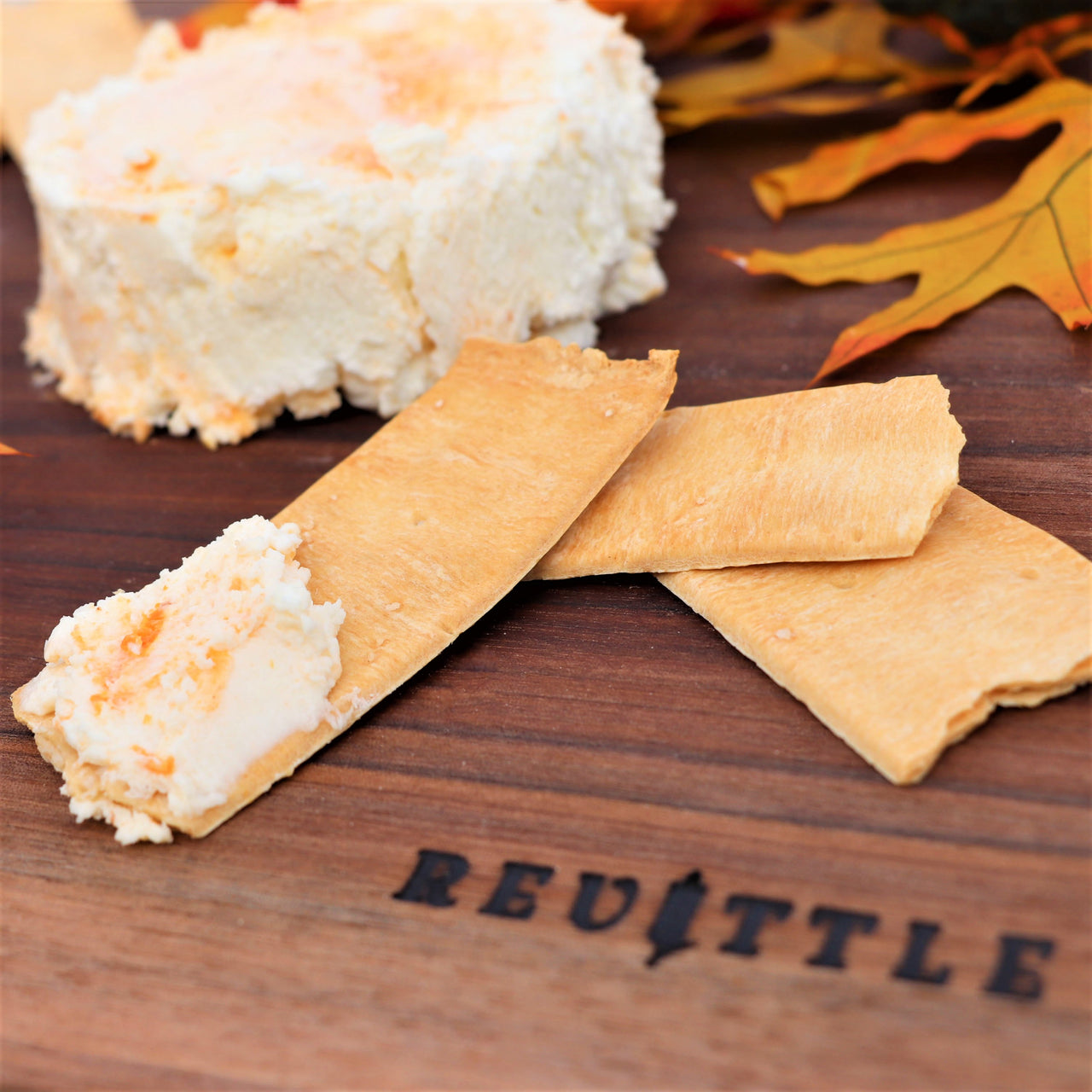 Pumpkin Spice Chevre with Crackers and Fall Foliage | Revittle
