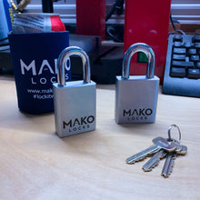MAKO M-2 System Mo. 129 Heavy - Rekeyable SFIC Rectangular Padlock (No Core Included)