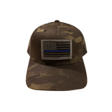 Military Dark Camo Patch Hat