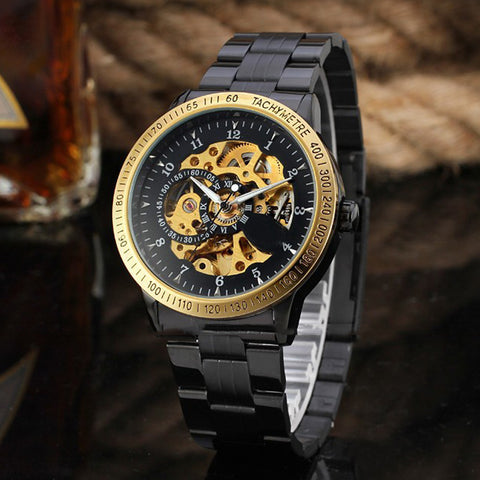 Mechanical Wristwatches - Black Gold Watch - Watches - Men's Women's Watches - ClubLid.com