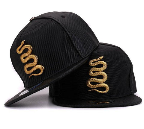 Black and Gold Hats - Golden Snake Hat - Men's Hat - Hats - Club Lid