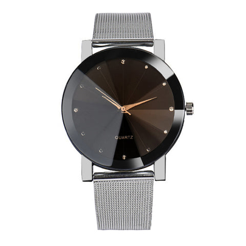 Quartz Crystal Wristwatches for Men - Men's Women's Watches - Stainless Steel Watch - ClubLid.com