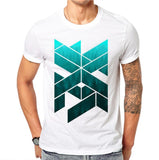 Summer Ink Geometric Men's T-shirt