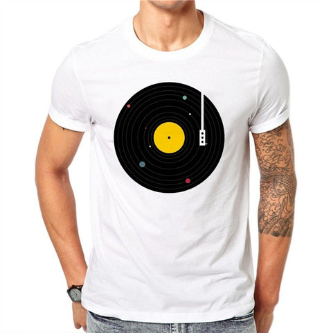 Vinyl Records Printed Men's T-shirt