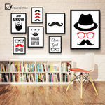 Beard/Mustache Art Canvas Decor - KeepItPhresh.com